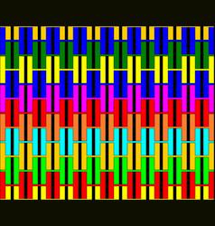 multi-color h alphabet pattern background vector image