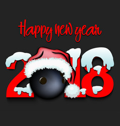 New year numbers 2018 and bowling vector