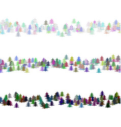 pine tree pattern paragraph rule line design set vector image
