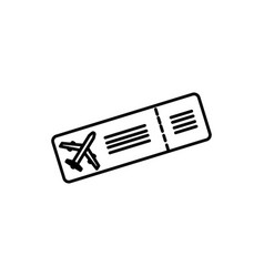 plane ticket icon vector image