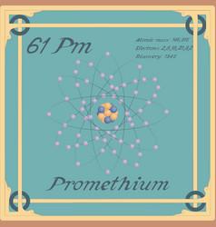 Promethium colorful icon vector