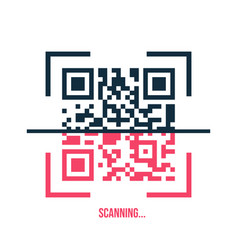 Qr code icon in trendy flat style isolated on vector