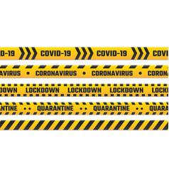 quarantine stripes yellow tape for border vector image