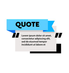 quote box frame for texting and messages blank vector image