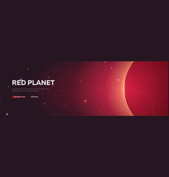red planet mars astronomical galaxy space vector image