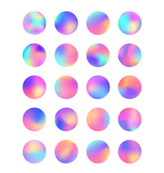 rounded holographic foil gradient for button vector image