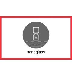 Sandglass contour outline icon vector