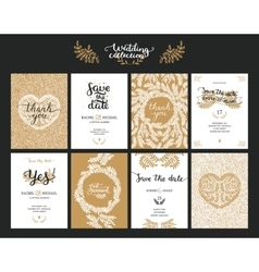 Save the date cards vector