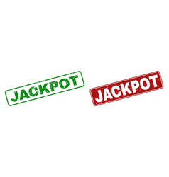 scratched jackpot stamp seals with rounded vector image