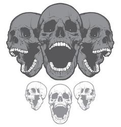 Screaming skulls vector