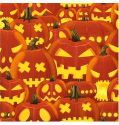 seamless halloween pattern with set vector image