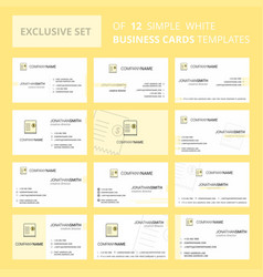 set of 12 invoice creative busienss card template vector image