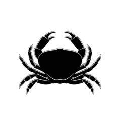 silhouette of a crab isolated on white vector image