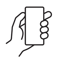 Smart phone in hand icon vector