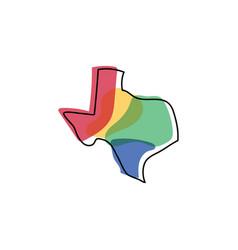 texas map logo design vector image