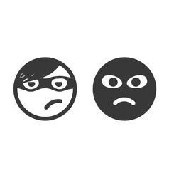 Thief smiley icons vector