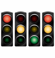 Traffic light variants vector