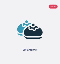 Two color sufganiyah icon from religion concept vector