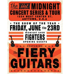 Vintage concert posters vector image