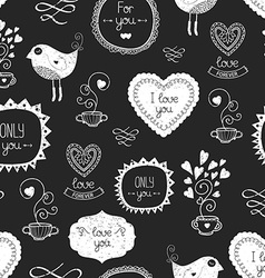 Vintage love background vector image