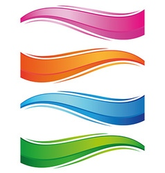 waves of colorful banners set vector image
