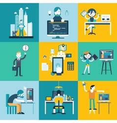 Web development team characters vector image
