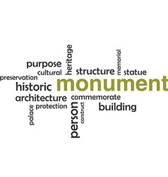 Word cloud monument vector