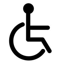 black sign of the disabled icon vector image