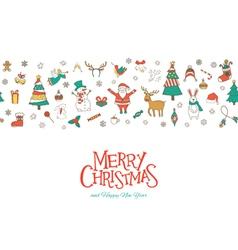 christmas seamless pattern banner vector image