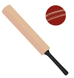Cricket bat and ball vector