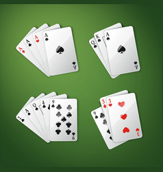 different cards combination vector image