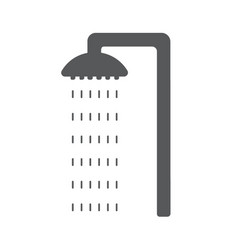 flat cyan and shower icon with water drops vector image