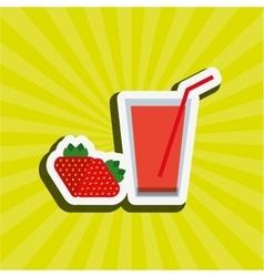 Healthy drink design vector