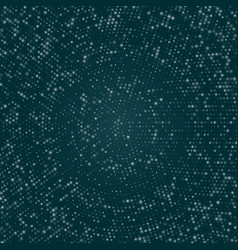 radial blue concentric stars particles on dark vector image