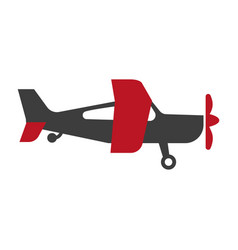 small red and black airplane vector image vector image