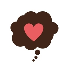 speech bubble with heart icon vector image vector image