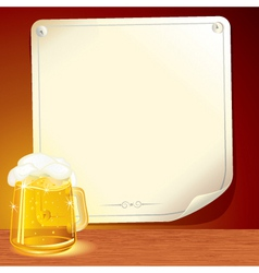 beer poster for your text vector image vector image