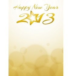 Happy new year 2013 card with gold star vector image