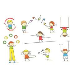 Juggling kids vector