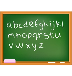lower case chalkboard alphabet vector image vector image