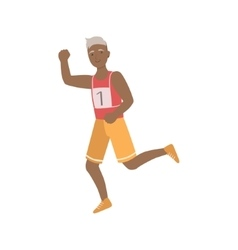 Old Man Running A Marathon vector image vector image