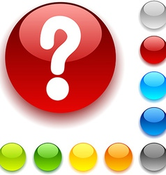 Question button vector image