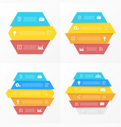 set element for infographic vector image vector image