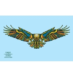Zentangle stylized eagle Sketch for tattoo or t vector image