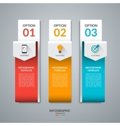 Abstract infographic template with three options vector image vector image