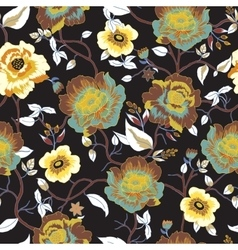 Abstract seamless pattern with isolated flowers vector image