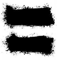 ink grunge banner vector image vector image