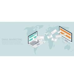 modern flat isometric email marketing vector image