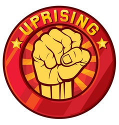 uprising symbol vector image vector image