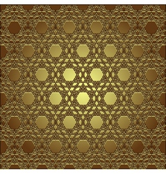 golden seamless eastern ornament vector image